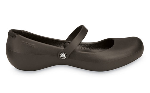 """ac20aad5b69b64 I chose the """"Alice Work"""" style because they were a decent price and looked  more like sleek Mary Janes than rubber shoes (for alternate views of the  shoe"""